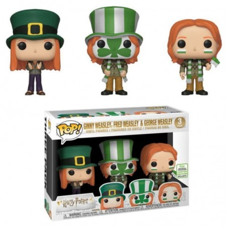 Figurine Pop Ginny, Fred, George Weasley 3-pack ECCC 2019 Exclusive (Harry Potter)
