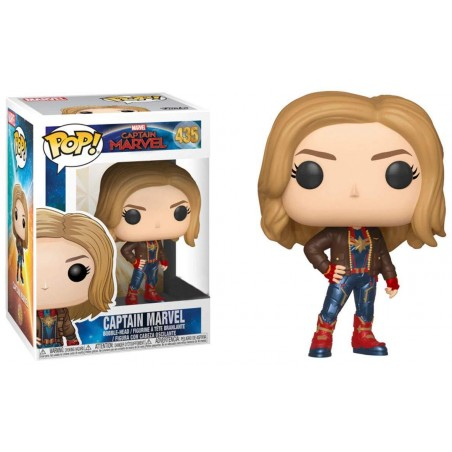 Figurine Pop Captain Marvel in Brown Jacket Exclusive (Captain Marvel)