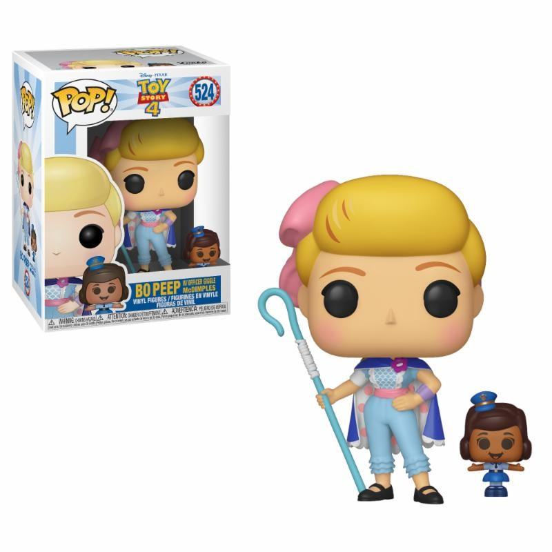 Figurine Pop Bo Peep with Officer McDimples (Toy Story 4)