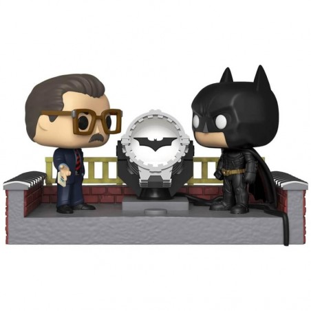 Figurine Pop Movie Moment Batman with light up Bat-signal (Batman 80th)