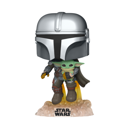 Figurine Pop Mando Flying with jet pack (Star Wars Mandalorian)