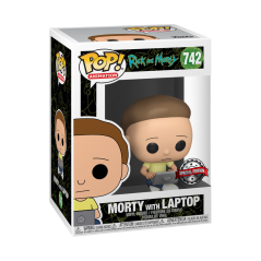 Figurine Pop Morty with laptop Exclusive (Rick and Morty) -  Figurines Pop Rick and Morty