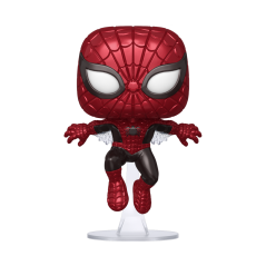 Figurine Pop First Appearance Spider-Man metallic exclusive (Marvel 80th) -  Exclusive