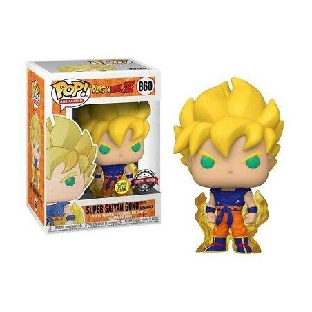 Figurine Pop Super Saiyan Goku First Appearance GITD Exclusive (Dragon Ball Z)