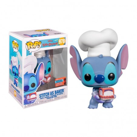 Figurine Pop Stitch as Baker Exclusive NYCC 2020 (Disney Lilo & Stitch) -  Figurines Pop Lilo et Stitch