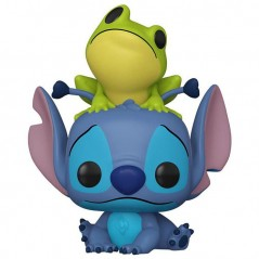 Figurine Pop Stitch with frog Exclusive (Disney Lilo & Stitch)