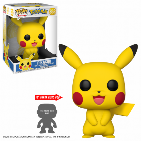 "Figurine Pop Pikachu 10"" (Pokemon)"