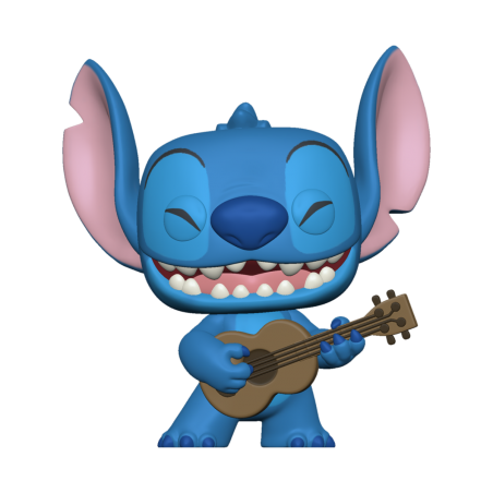 Figurine Pop Stitch with Ukelele (Disney Lilo & Stitch)
