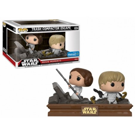 Funko Pop! Star Wars - Movie Moments - Luke & Leia Trash Compactor