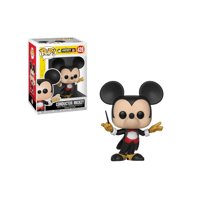 Figurine Pop Mickey Chef d'orchestre (Disney Mickey 90 ans)