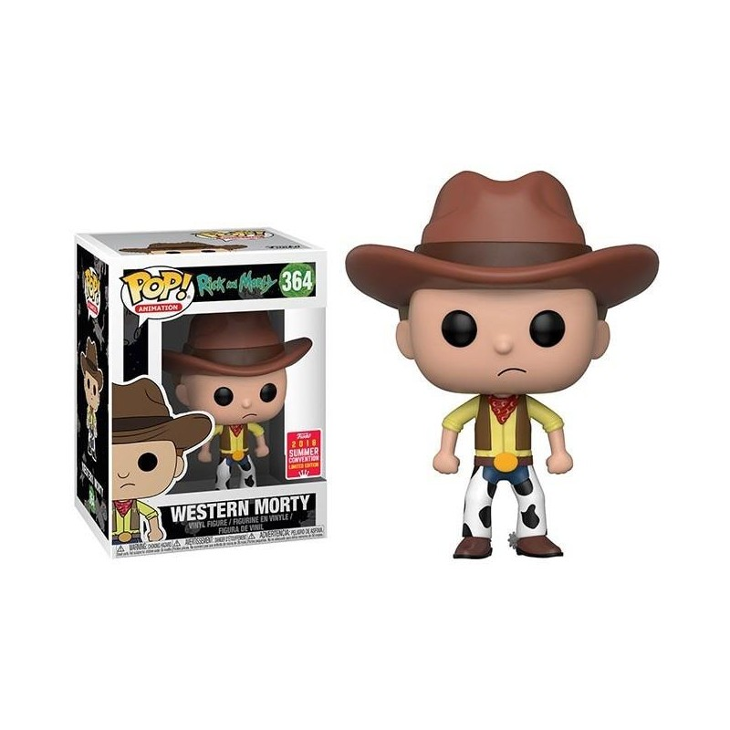 Figurine Pop Western Morty SDCC 2018 (Rick and Morty) -  Figurines Pop Rick and Morty