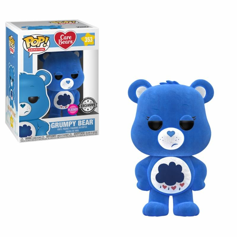 Figurine Grumpy Bear Flocked Exclusive (Care Bears)