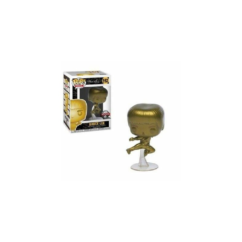 Figurine Pop Bruce Lee Kicking Gold Exclusive (Game Of Death)