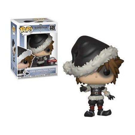 Figurine Pop Sora Christmastown Exclusive (Kingdom Hearts)